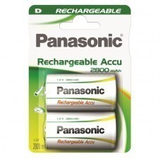 Panasonic Rechargeable D/Mono P20P battery 2 pcs.