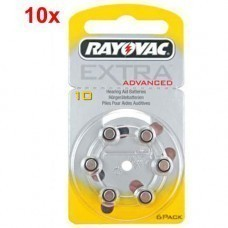 Rayovac Extra HA10, PR70, 4610 hearing aid battery 60 pcs.