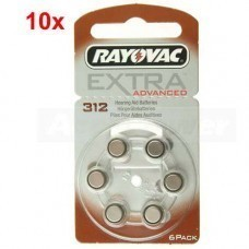 Rayovac Extra HA312, PR41, 4607 hearing aid battery 60 pcs.