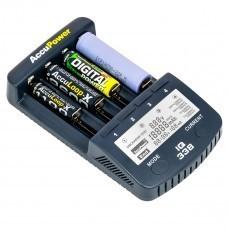 AccuPower LCD Fast Charger IQ338 for Li-Ion/Ni-MH/Ni-Cd