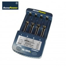 AccuPower LCD Fast Charger IQ328+ for Li-Ion/Ni-MH/Ni-Cd