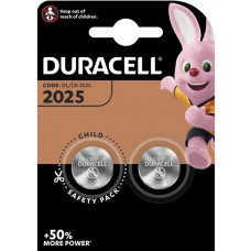 Duracell CR2025 Lithium Button Cell 2pcs