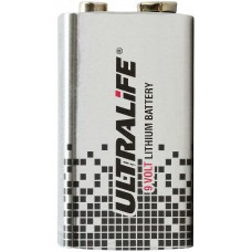 Ultralife Lithium battery 9 Volt, U9VL, U9VL-J