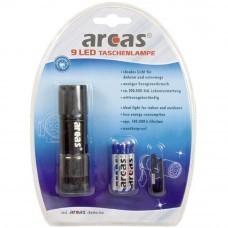 Arcas 9-LED flashlight black