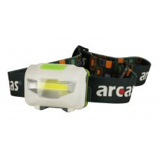 Arcas 3 Watt LED headlight 4 functions, 120 lumens incl. 3x AAA batteries