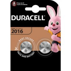 Duracell CR2016 Lithium coin cell 2pcs