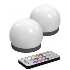LED decorative light in the form of a ball incl. Various color functions 2 pieces including remote control