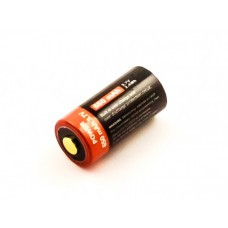 Cylindrical cell 16340, CR123, Li-ion, 3.7V, 650mAh with USB charging port