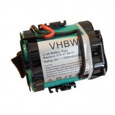 VHBW Battery for Gardena R40Li, R70Li, Husqvarna Automower 305, 308, 1500mAh