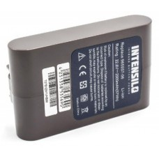 INTENSILO battery black for Dyson DC31, DC34, DC35 and others 22.8V, type B, 2500mAh