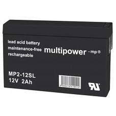 Multipower MP2-12SL Lead-Acid Battery 12Volt 2.0Ah