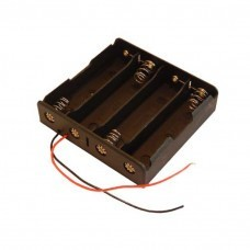Battery holder for 4x 18650 cells with cable Battery