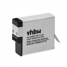 VHBW Battery for GoPro Hero 5, AHDBT-501, 1220mAh