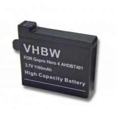 VHBW Battery for GoPro Hero 4, AHDBT-401, 1160mAh
