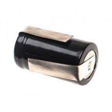 VHBW Battery 2/3A with 2 solder tags for Panasonic ER398, ER201, NiMH, 1.2V, 1300mAh
