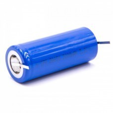 Cylindrical battery cell 26650, LiFePo4, 3.2V, 3000mAh with U-solder tags