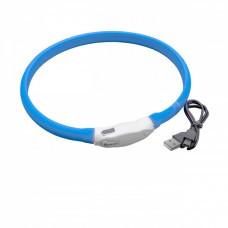 VHBW Dog Collar with LED's, blue, 50cm