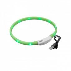VHBW Dog Collar with LED's, green, 50cm