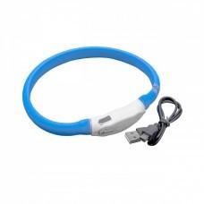 VHBW Dog Collar with LED's, blue, 35cm