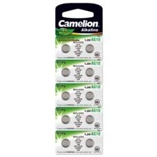 Camelion button cell AG10, LR54, 389, LR1130, V10GA, 10-pack