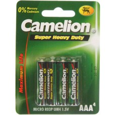 Camelion R03 Zinc Carbon AAA/Micro Battery 4-Blisters