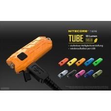 Nitecore TUBE 2.0 keychain torch, with Micro USB, 55 lumens, transparent