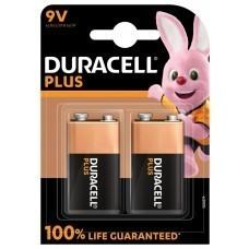 Duracell Plus 9 Volt/6LR61 Battery 2-Pack
