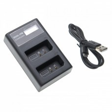 USB Battery Charger for Canon Battery LP-E10 with Display