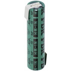 Sanyo HR-4/3FAU 4/3A battery with solder tag