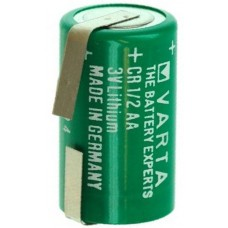 Varta 6127 CR1/2AA Lithium battery with solder tag