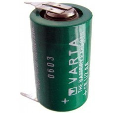 Varta CR1/2AA Lithium battery 6127 with 3-print solder tag