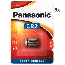 Panasonic CR2, CR2EP, CR-2 Lithium battery 5 pcs.