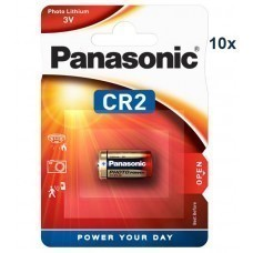 Panasonic CR2, CR2EP  Lithium battery 10 pcs.