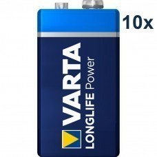 Varta 4922 High Energy 9Volt/6F22 battery 10 pcs.