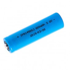 Batterie solaire XCell IFR14500 LiFePo4 3.2V 600mAh