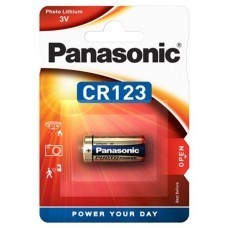 Panasonic CR123A, pile photo photo CR123 au lithium