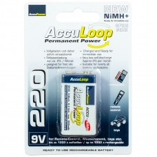 Batterie AccuPower AccuLoop AL220-2 9V NiMH Ready2Use