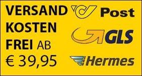 Ab einem Warenwert von nur €39.95 liefern wir versandkostenfrei nach Österreich und Deutschland